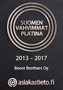 Boost Brothers Suomen Vahvimmat Platina 2013-2017