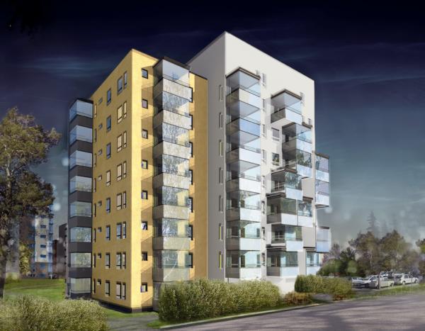Pajalankurki, 69 vuokra-asuntoa käsittävä asuinkerrostalo